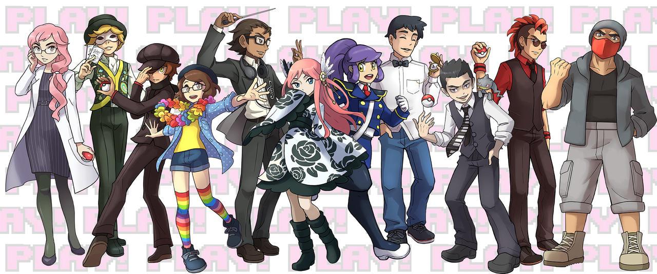 PLAY! PokeLARP Gym Leaders and Elite Four. by Kiraneko