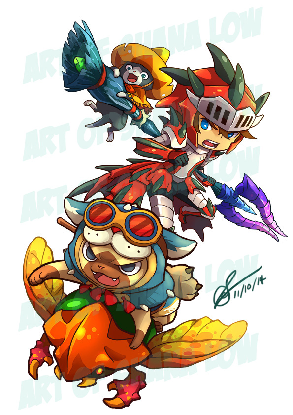 Monster Hunter commission 1 by Kiraneko