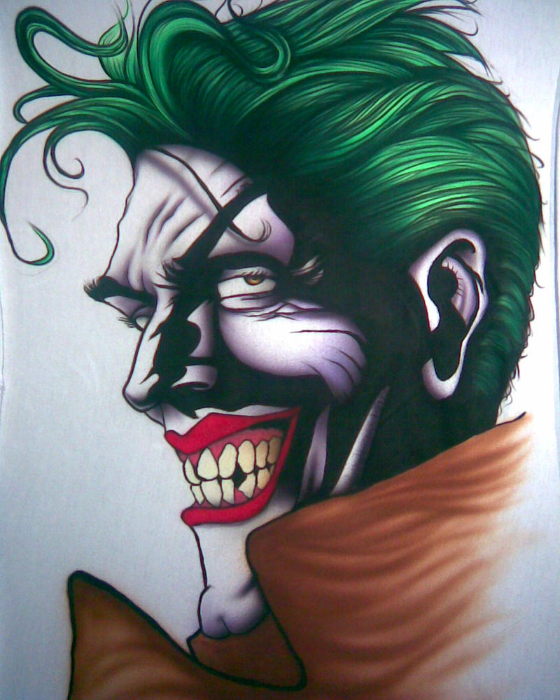 Airbrush Joker Wallpaper: Joker Making Of Number 2 By Kentu-airbrush On DeviantArt