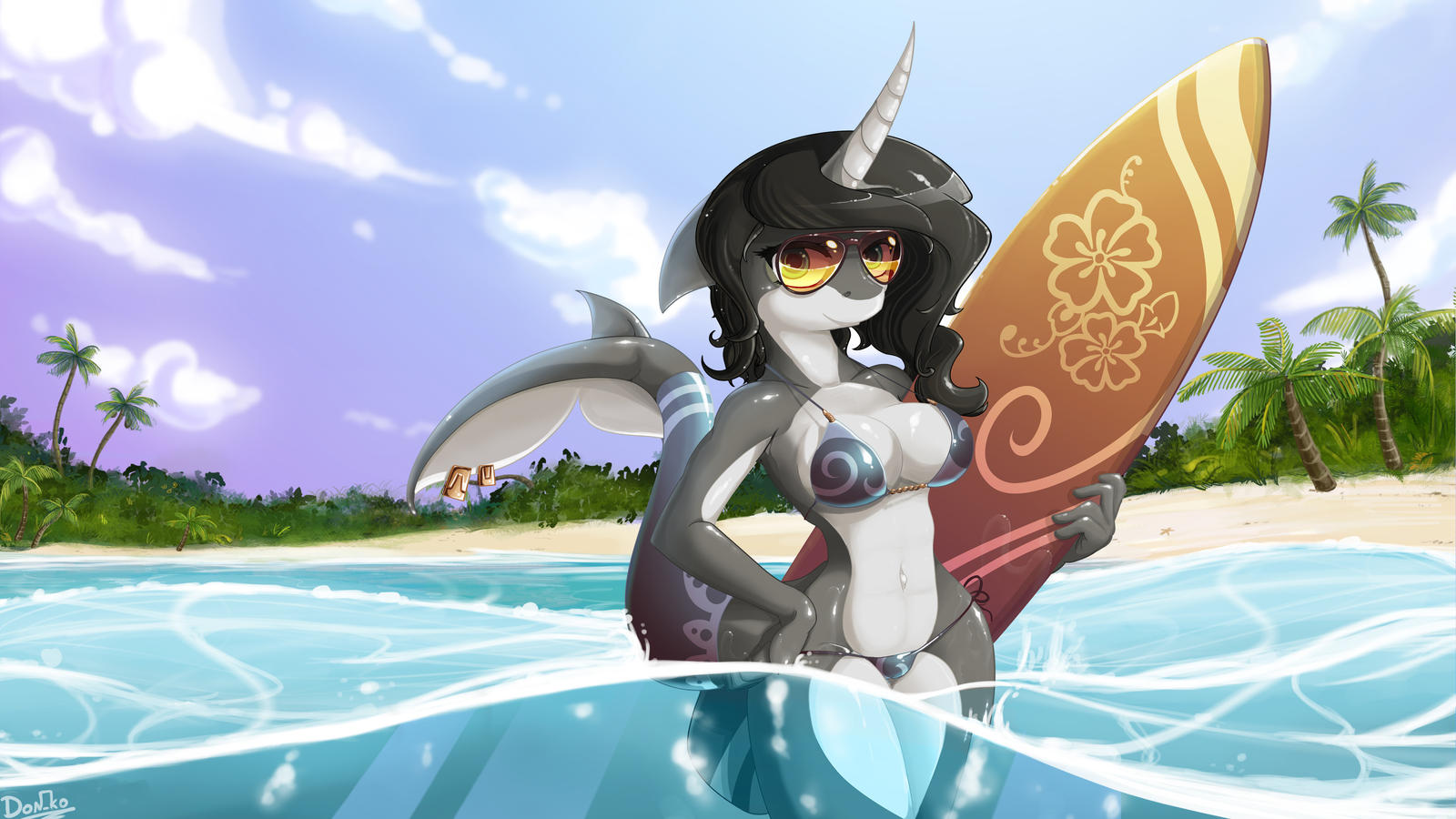 Narwhal girl by Don-ko