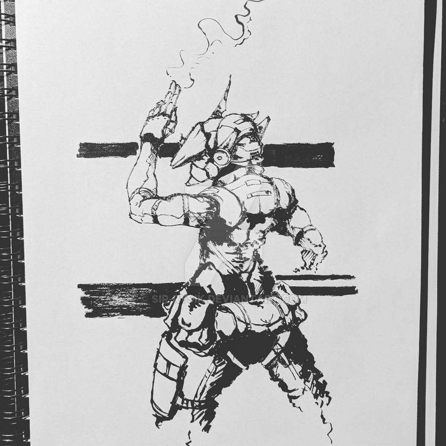 Inktober Day 29- The Smoking Gun... Er... Hand by Sir-Rysik