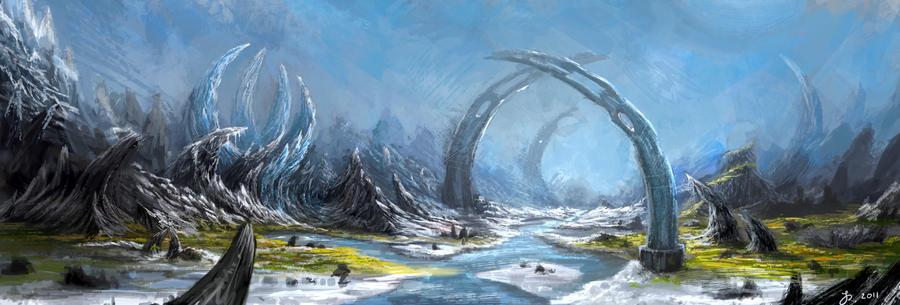 Sketch landscape by Reffelia