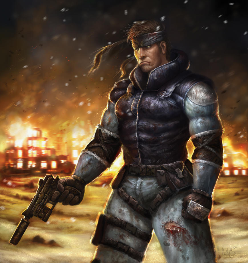 Solid Snake by Reffelia
