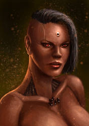character portrait for utwe ( speed painting) by Reffelia