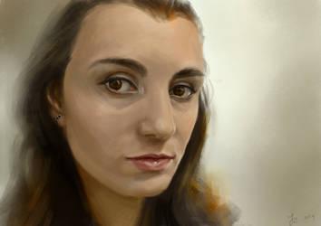 Study portrait by Reffelia