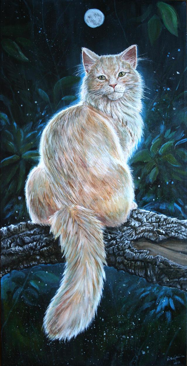 Cat - Silent Night by Reffelia
