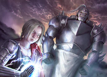 Fma - Brother's Elric - Fan art 2016 by Reffelia