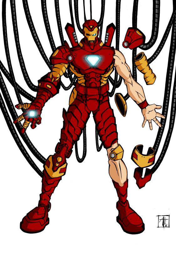 Iron Man Coloring By Davidfcg On Deviantart