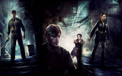Silent Hill Downpour Collage Wallpaper by DavidFCG