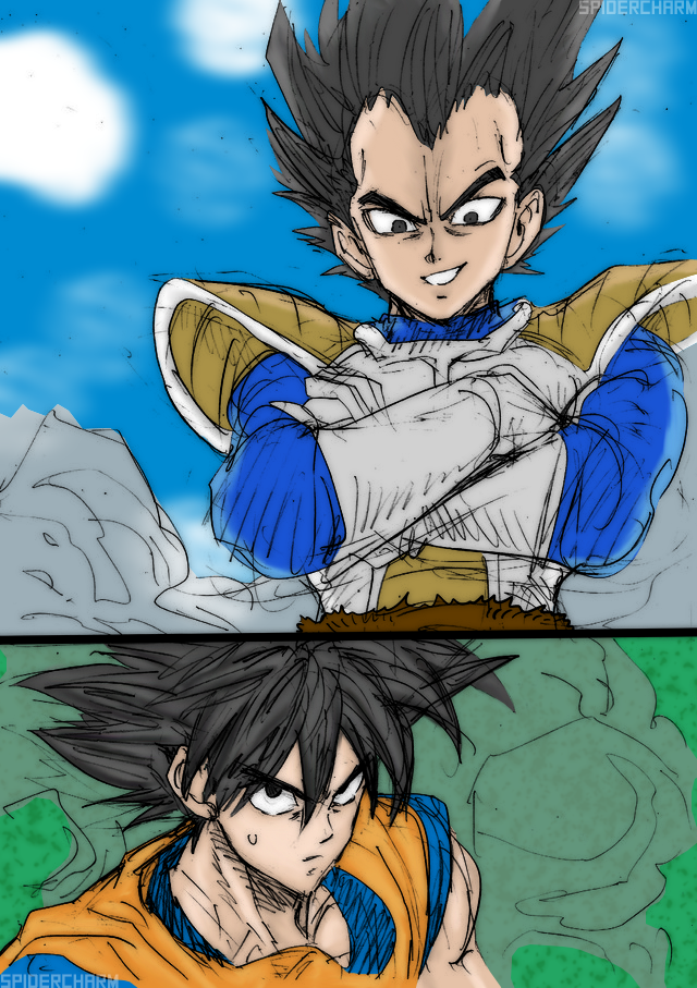 Yusuke Murata's DBZ Sketch Coloring by DavidFCG on DeviantArt