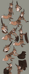 Robin Hood Study Page One (Design by Milt Kahl) by EdisonFox
