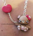 sweet bear necklace