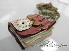 Steampunk Book necklace by AlchemianShop