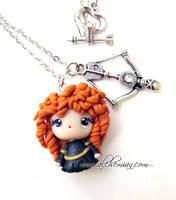 The Brave Merida Necklace by AlchemianShop