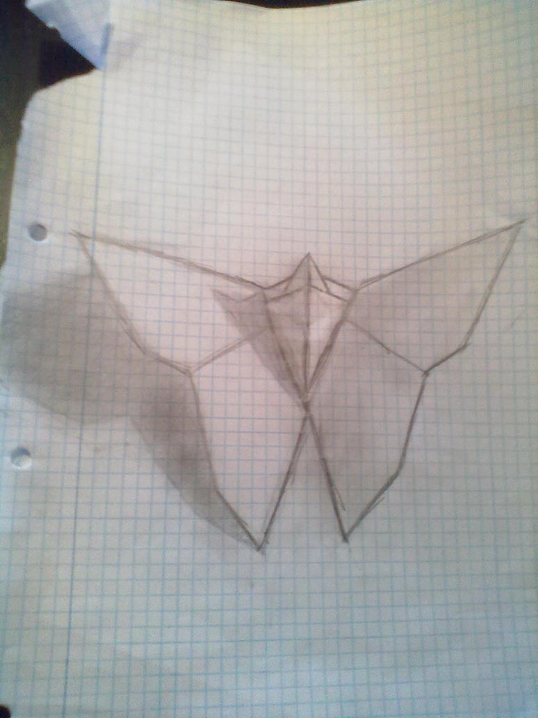 Origami Butterfly Drawing By Smoels