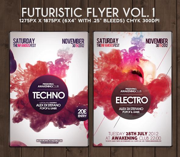 Futuristic Flyer Vol.1 by DusskDeejay