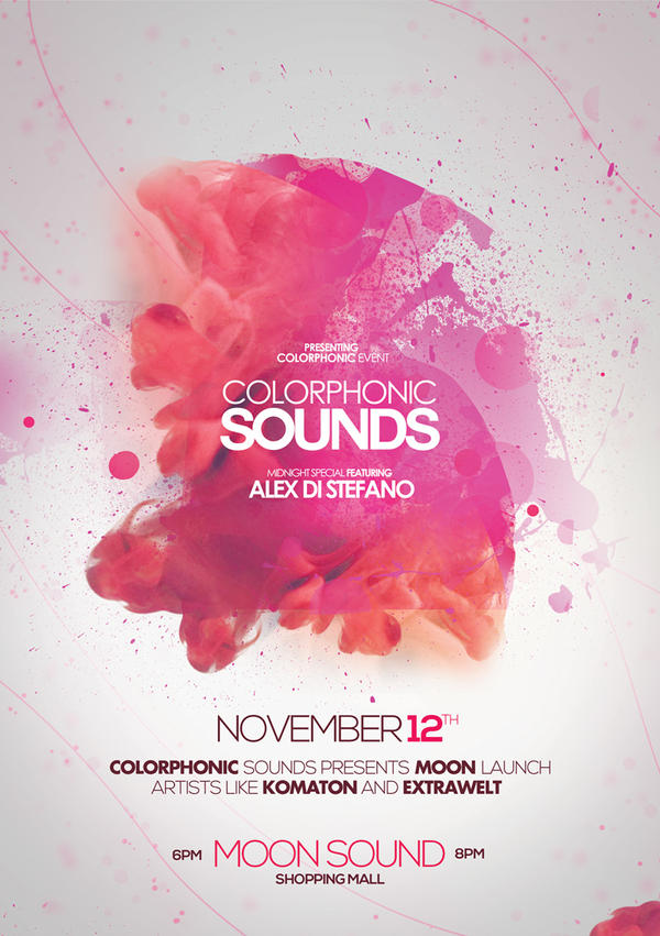 Colorphonic Sounds Poster Flyer By Dusskdeejay On Deviantart