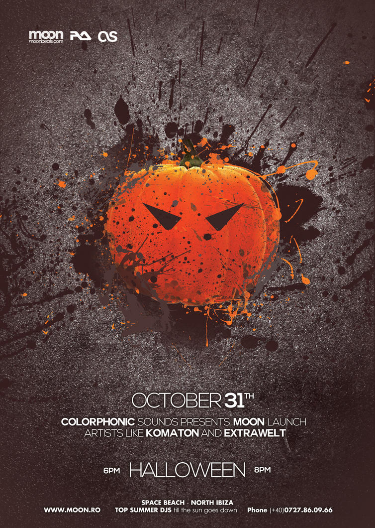 Halloween Poster Flyer PSD by DusskDeejay