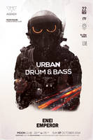 Drum and Bass Poster by DusskDeejay