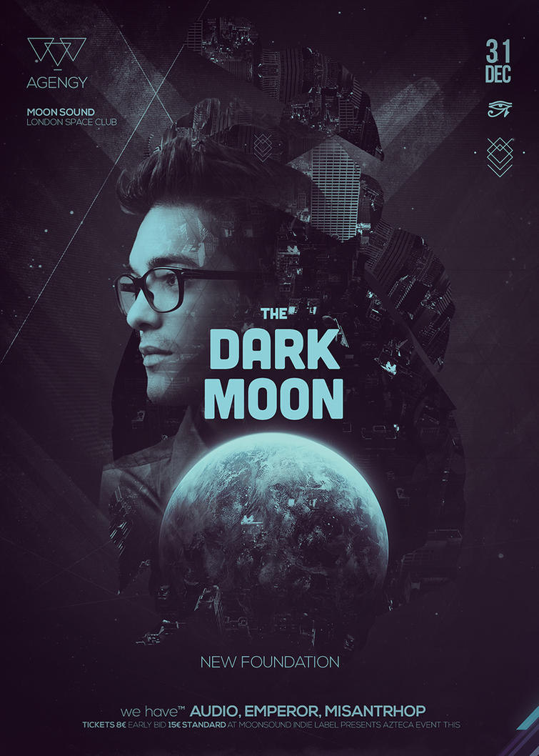 Dark Side of the Moon Poster by DusskDeejay