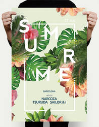 Exotic Summer Flyer PSD by DusskDeejay