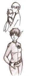Artemis Fowl doodlings by Kayoska