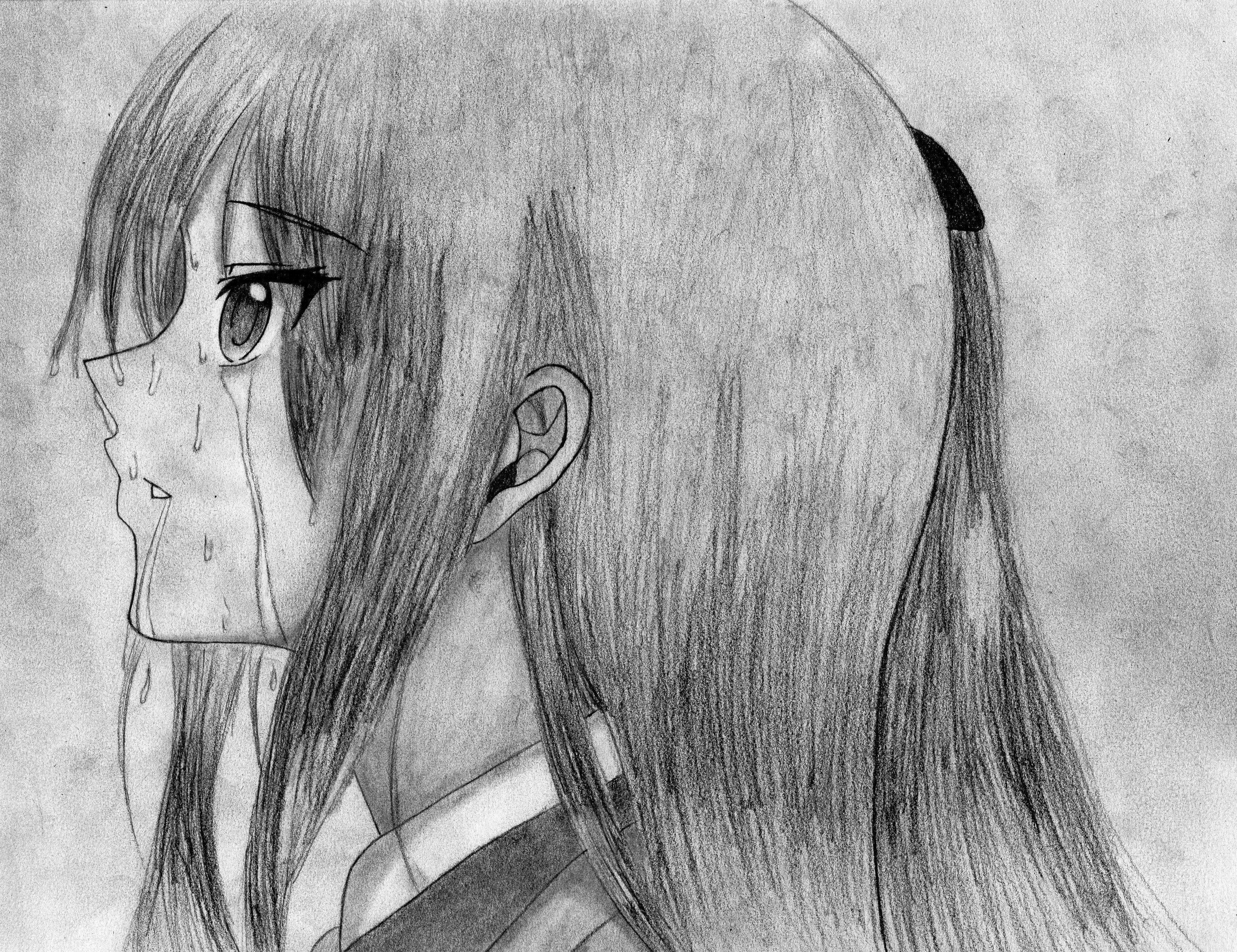 Crying in the Rain by OtakuTiki on DeviantArt Lonely Anime Girl Crying In The Rain
