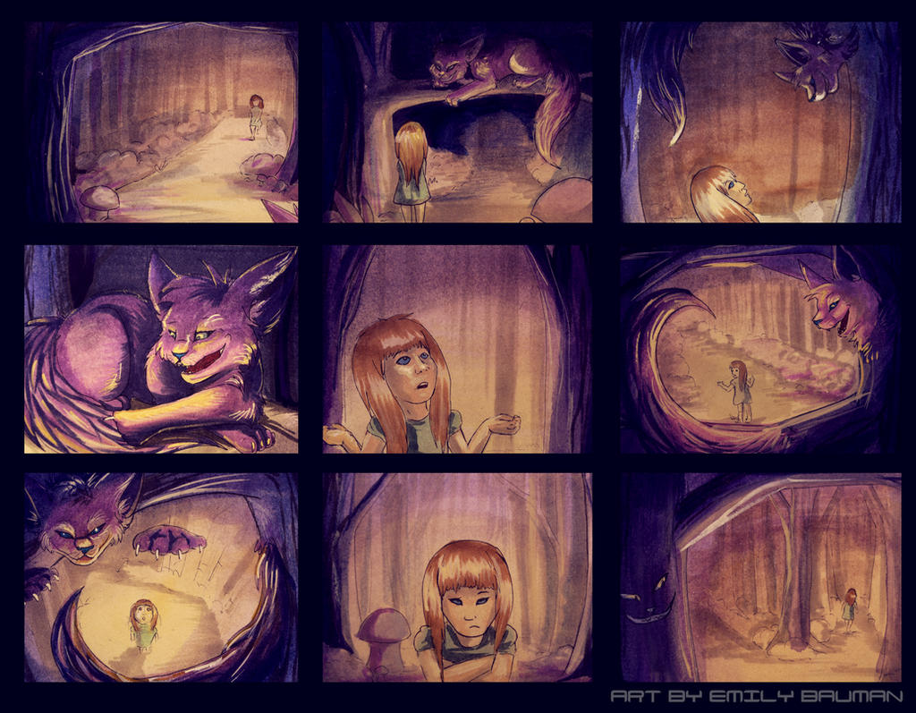 Alice in Wonderland Storyboards by CALLYKITTY