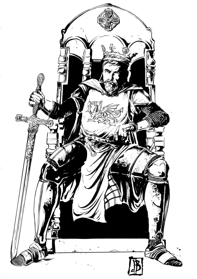 how to draw a man sitting on a throne