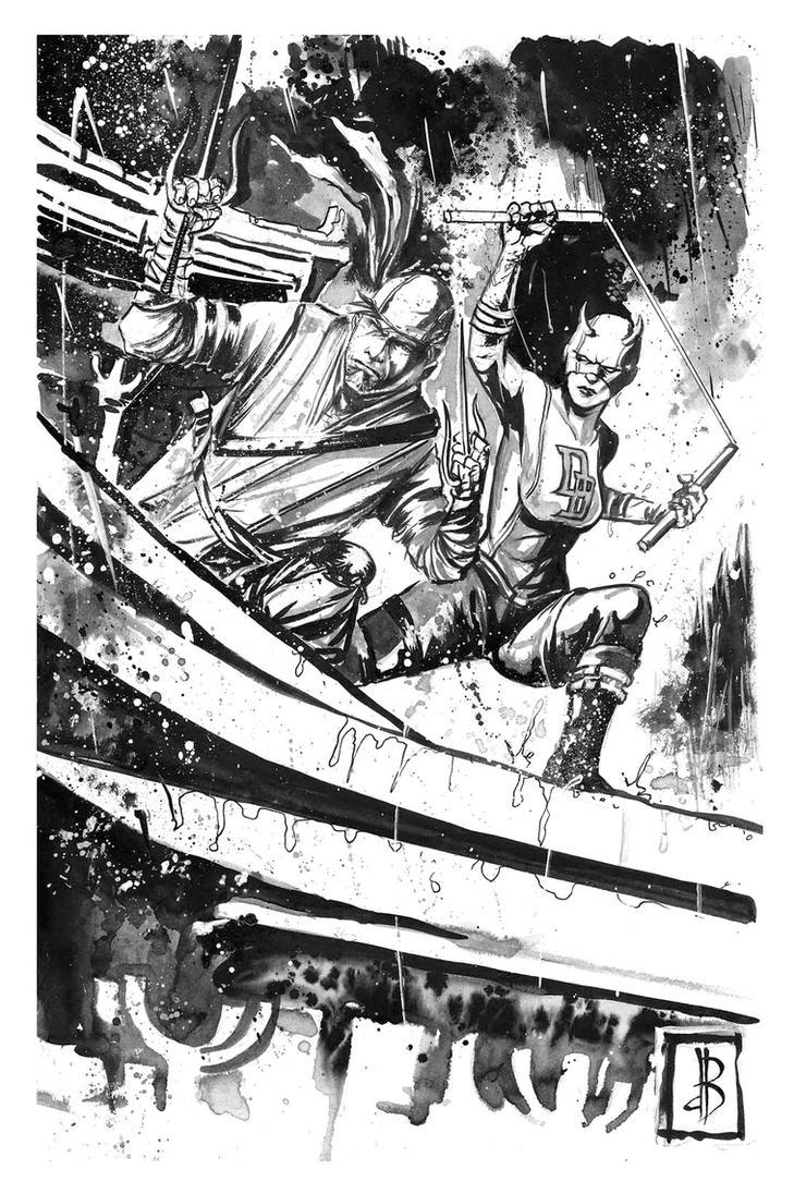 He, the Elektra, She the Daredevil by SilviodB