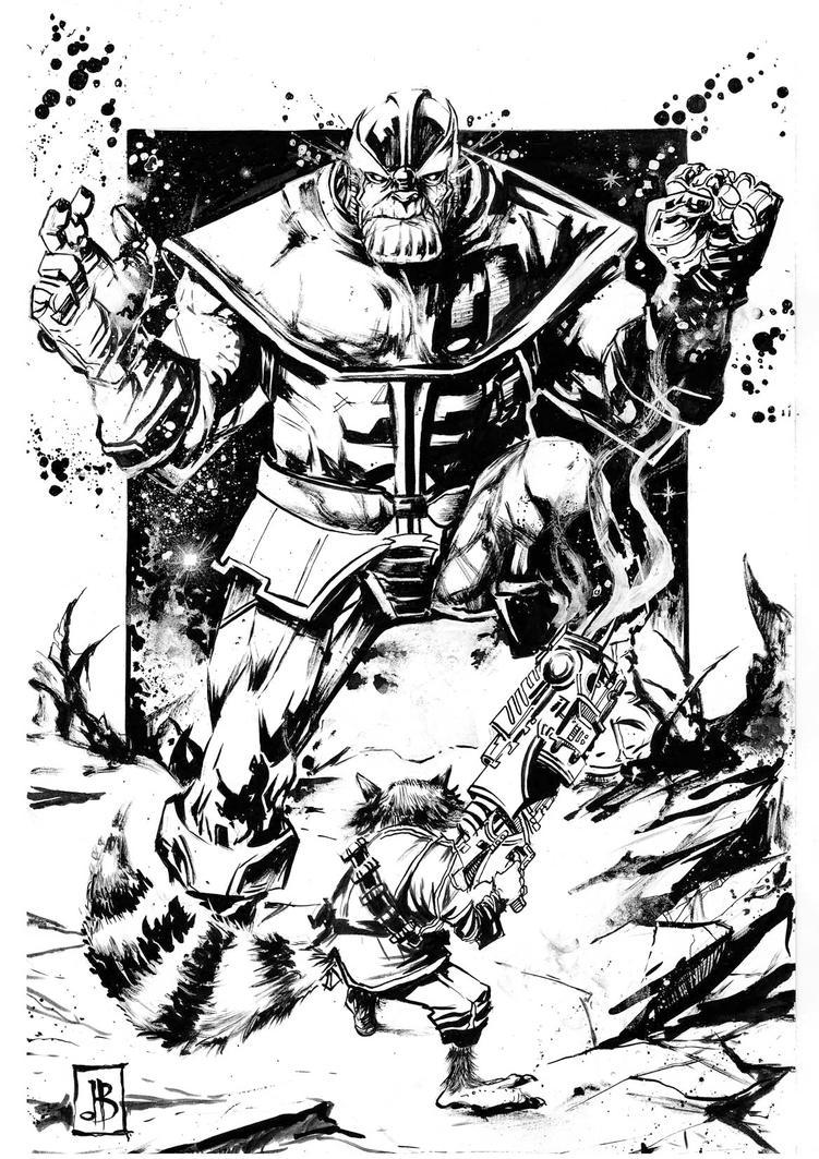 Rocky vs Thanos by SilviodB