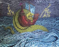 Medieval Sea Serpent