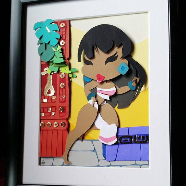 Chel Layered Paper Cut Art Piece by blackdog393