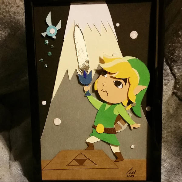 toon link layered paper cut art piece by blackdog393 on deviantart