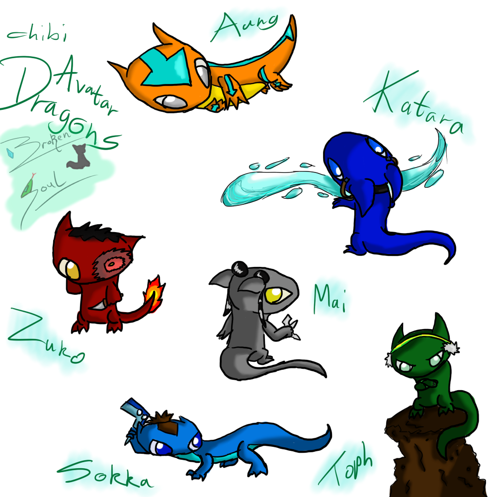 Avatar Dragon: Avatar Chibi Dragons By Toph-Rulz16 On DeviantArt