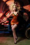 Comtesse Lea latex steampunk