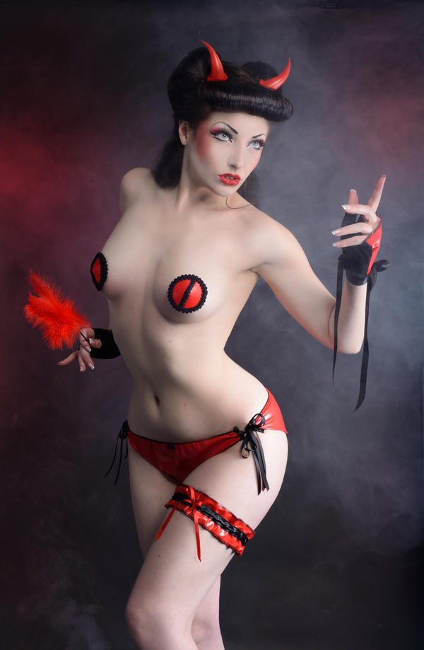 Devil pinup by TheComtesseLea
