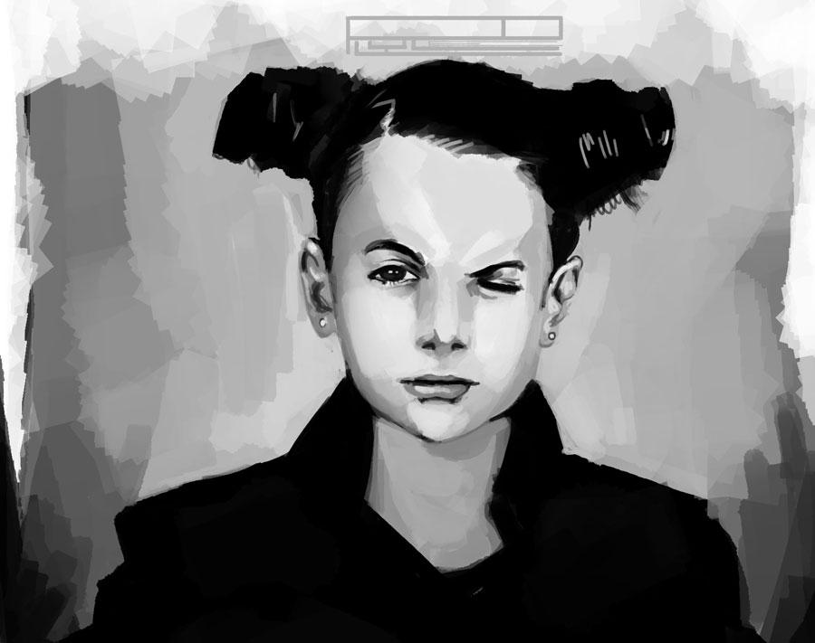 stinky 1hr portrait study by Lolip