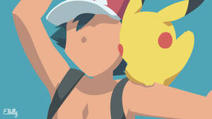 Ash and Pikachu Minimalist