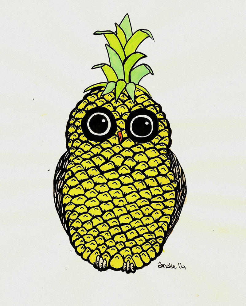 Pineapple Owl by AnalieKate