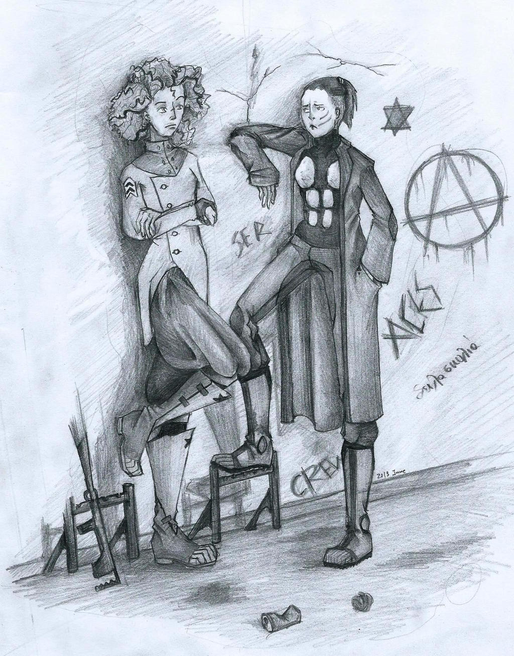 Hunter and Moscovits by fallennonangel