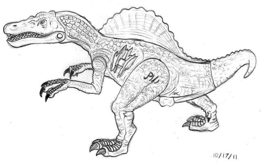 JP3 Spinosaurus Figure Drawing By NAveryW