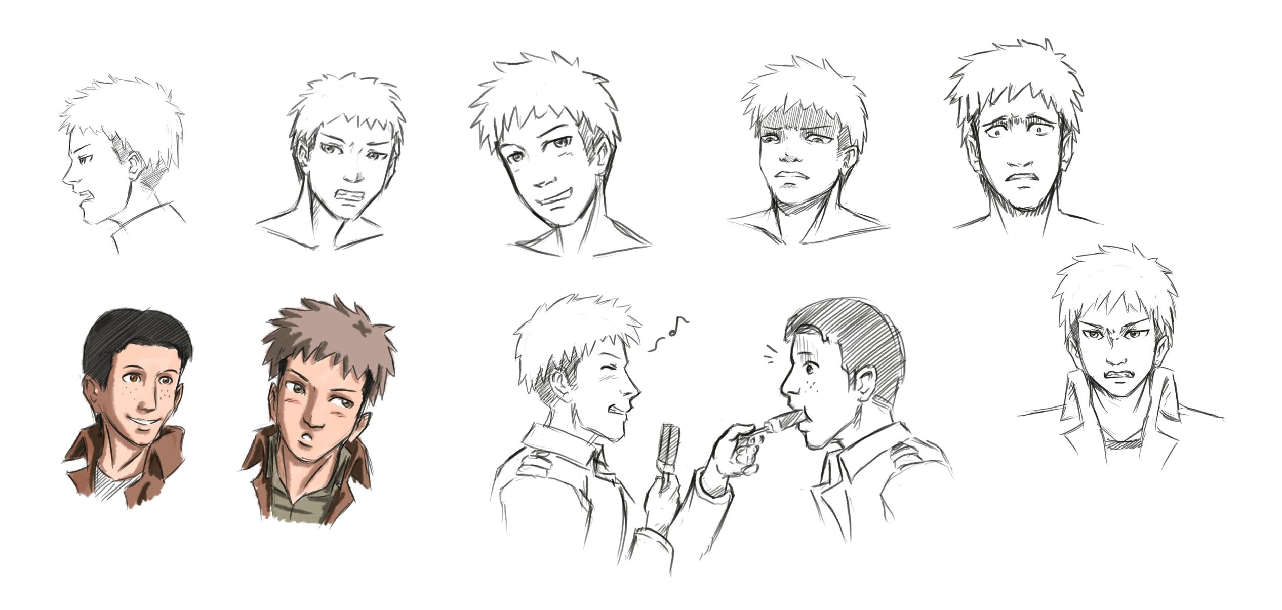 anime male face - HD2532×1205