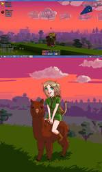 Cube World - Alpaca Rider by Tobsen85