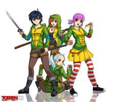 TMNT Hoodie Group by Tobsen85