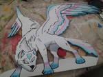 Yard Art - Angel Wolf