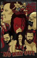 WWE No Way Out 2012 Vintage Poster by wild7even
