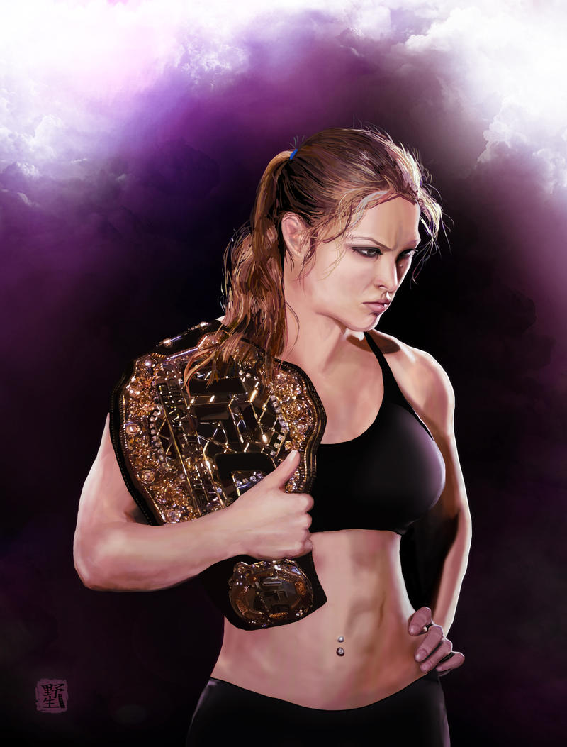 Ronda rousey by wild7even on deviantart