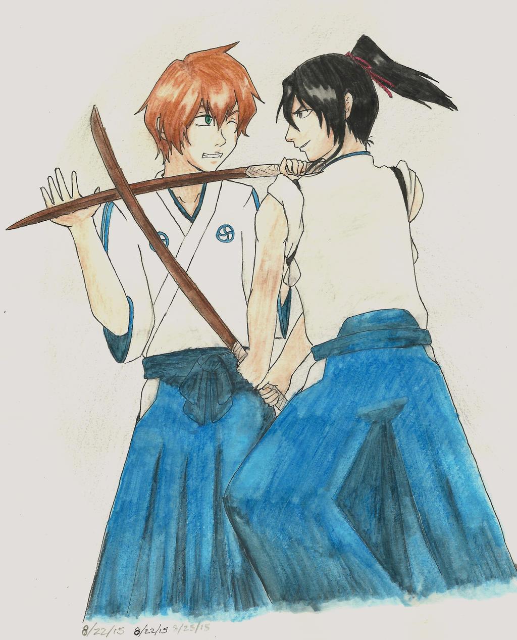 Kioku vs. Byakuya by RosettaMezzanotte
