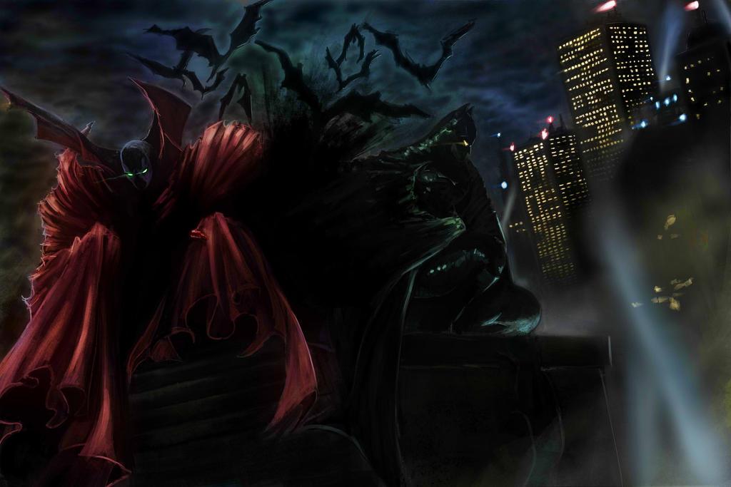 Batman And Spawn by Takuyan23